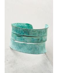Sibilia | Green Sliced Patina Cuff | Lyst