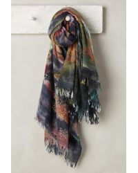 Anthropologie | Multicolor Speckled Gold Cashmere Scarf | Lyst