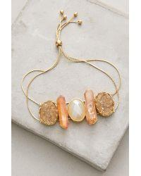 Anthropologie | Metallic Stonesthrow Bracelet | Lyst