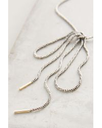 By Boe | Metallic Bowtied Chain Necklace | Lyst