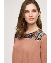 ANAMÁ | Red Brocade Trim Top | Lyst