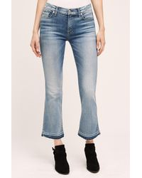 7 For All Mankind | Blue Mid-rise Bootcut Jeans | Lyst