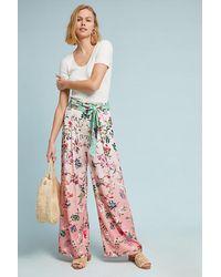 Hemant & Nandita Multicolor Ombre Floral Wide-leg Trousers
