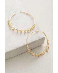 Anthropologie | Metallic Brinley Hoop Earrings | Lyst