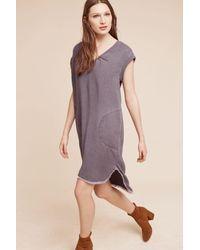 Cloth & Stone | Gray Frayed Tunic Dress | Lyst