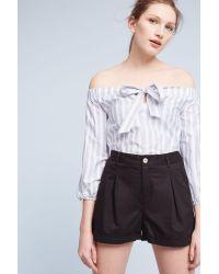 Hei Hei | Black Julia Pleated Poplin Shorts | Lyst