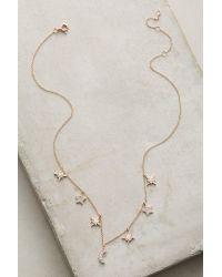 Luna Skye | Metallic Diamond Charm Necklace | Lyst