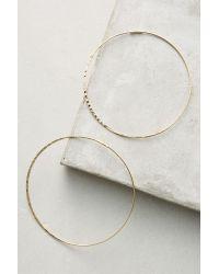 Anthropologie | Metallic Slender Hoops | Lyst