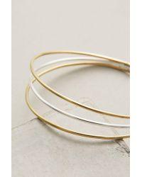Lena Bernard - Metallic Tri-strand Hoop Earrings - Lyst
