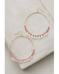 Anthropologie | Multicolor Mint Stone Hoops | Lyst