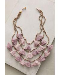 Bluma Project | Purple Gia Layered Bib Necklace | Lyst