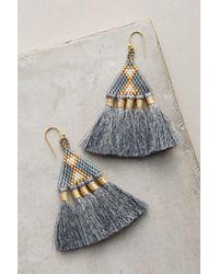Bluma Project | Gray Tri Tassel Earrings | Lyst