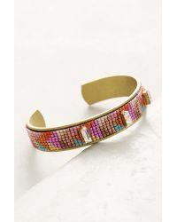 Jill Golden | Pink Fractal Beaded Cuff Bracelet | Lyst