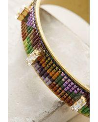 Jill Golden - Purple Inversion Beaded Cuff Bracelet - Lyst