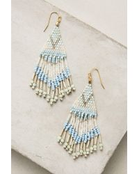 Anthropologie | Blue Beaded Tanager Drop Earrings | Lyst
