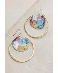 Sibilia | Blue Galactic Hoop Earrings | Lyst