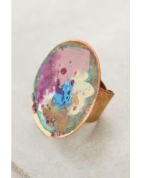 Sibilia | Purple Springbeam Circle Ring | Lyst