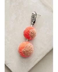 Mignonne Gavigan - Orange Pom Drop Earrings - Lyst