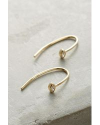 Anthropologie - Metallic Waterfall Arc Drop Earrings - Lyst