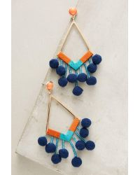 BaubleBar | Blue Pom-drop Earrings | Lyst