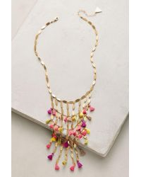 Anthropologie | Metallic Saffron Tassel Necklace | Lyst