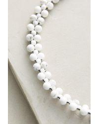 Lena Bernard | White Ophelia Beaded Choker Necklace | Lyst