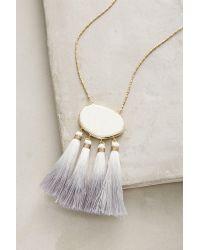 Anthropologie - White Howlite Tassel Pendant Necklace - Lyst