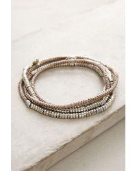 Anthropologie   Metallic Mint Twisted Wrap Bracelet   Lyst