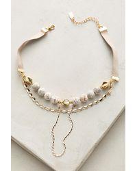 Lucky Star Jewels | Purple Nicolette Beaded Choker Necklace | Lyst