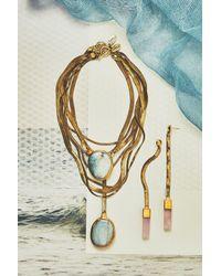 Lena Bernard - Pink Seastone Drop Earrings - Lyst