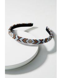 Alexandre De Paris | Metallic Beaded Geo Headband | Lyst