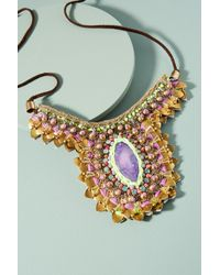 Anthropologie - Multicolor Purple Thorn Necklace - Lyst