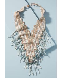 Anthropologie - Metallic Sunset Beaded Necklace - Lyst
