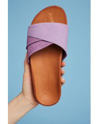 Anthropologie | Purple Twisted Pool Slides | Lyst