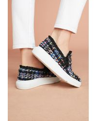 Anthropologie - Multicolor F-troupe Tweed Slip-on Trainers - Lyst