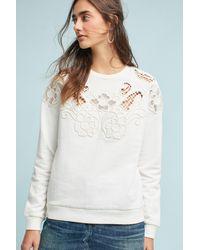 Seen, Worn, Kept Natural Posie Lace Cutwork Top, Cream