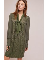 Tiny Green Susette Embroidered Tunic Dress