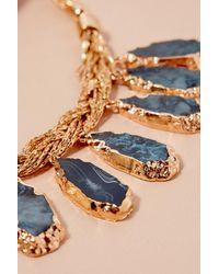 Anthropologie Metallic Tanie Stone Necklace