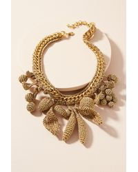 Venessa Arizaga | Metallic Crocheted Fruit Charm Collar Necklace | Lyst