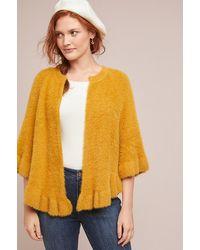 Anthropologie Yellow Marigold Ruffled Kimono