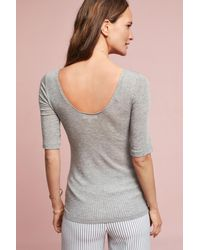 Pure + Good | Gray Luisa Crew Neck Layering Tee | Lyst