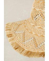 Anthropologie | Natural Idalina Floppy Woven Hat | Lyst