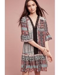Maeve Red Patchwork Peasant Dress