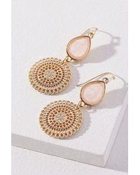 Anthropologie Pink Constantia Drop Earrings