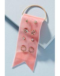 Anthropologie - Pink Delicate Earring Set - Lyst