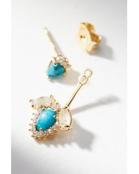 Anthropologie | Blue Turquoise Front-back Post Earrings | Lyst
