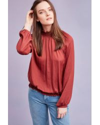 Second Female Rikka High-neck Blouse, Red