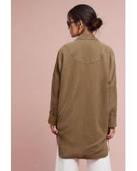 Anthropologie Natural Harmony Relaxed Trench Coat, Khaki