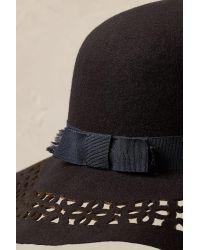 Anthropologie - Blue Tassia Laser-cut Hat - Lyst