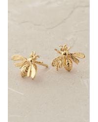 Anthropologie | Metallic Gilded Bee Earrings | Lyst